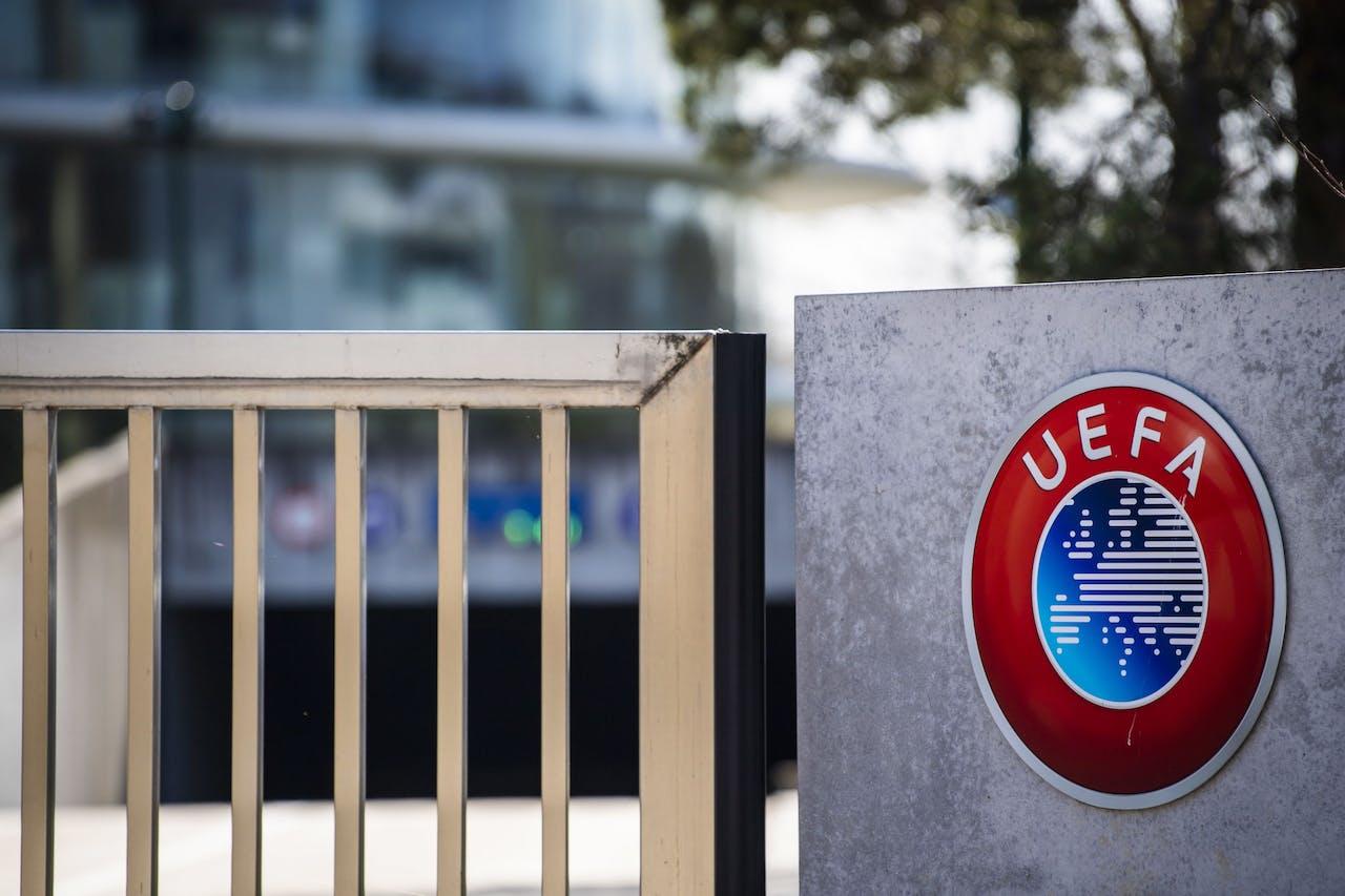 Het UEFA-hoofdkantoor in Nyon, Zwitserland