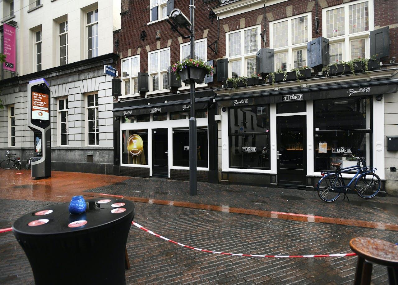 Gesloten cafés in het uitgaansgebied van Eindhoven.