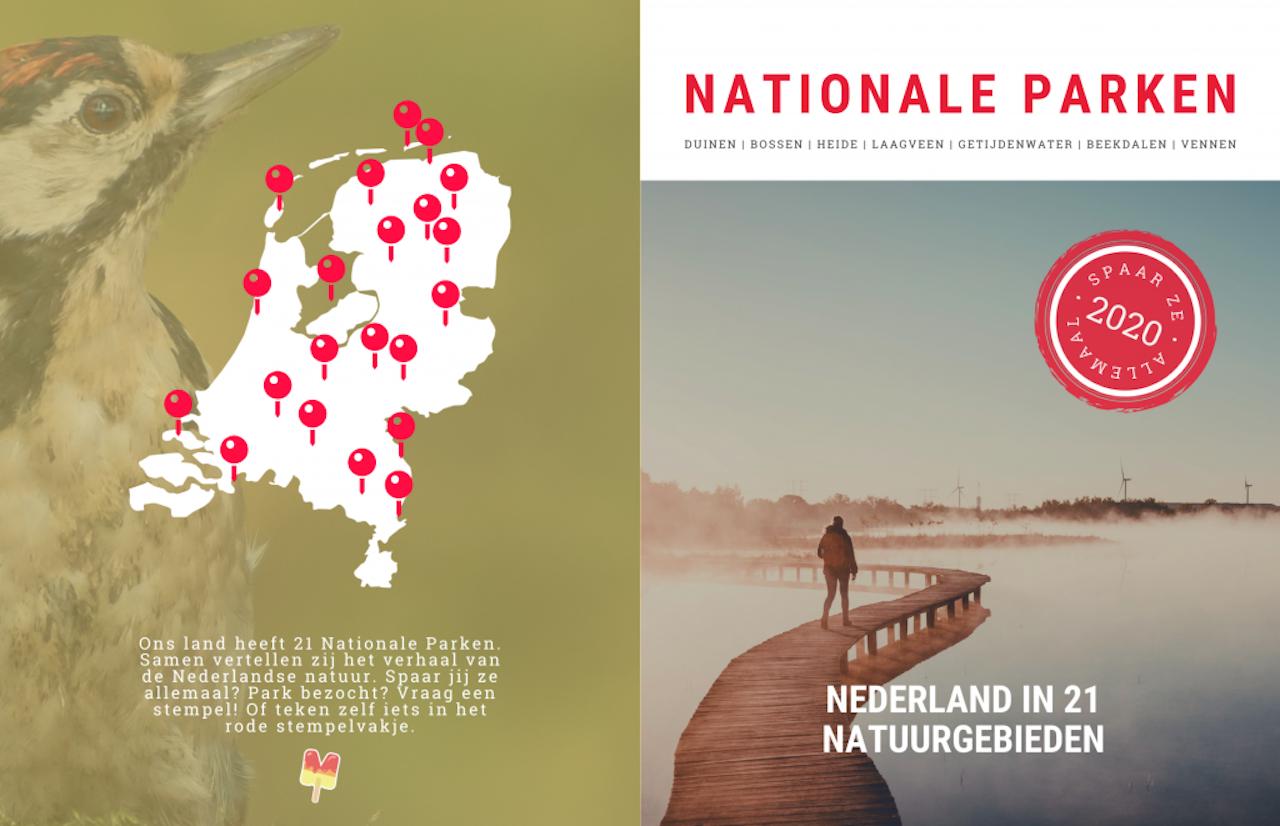 Het Nationale Parkenpaspoort, een concept van het informatieboekje, nu nog op de website van Martjan Kuit.