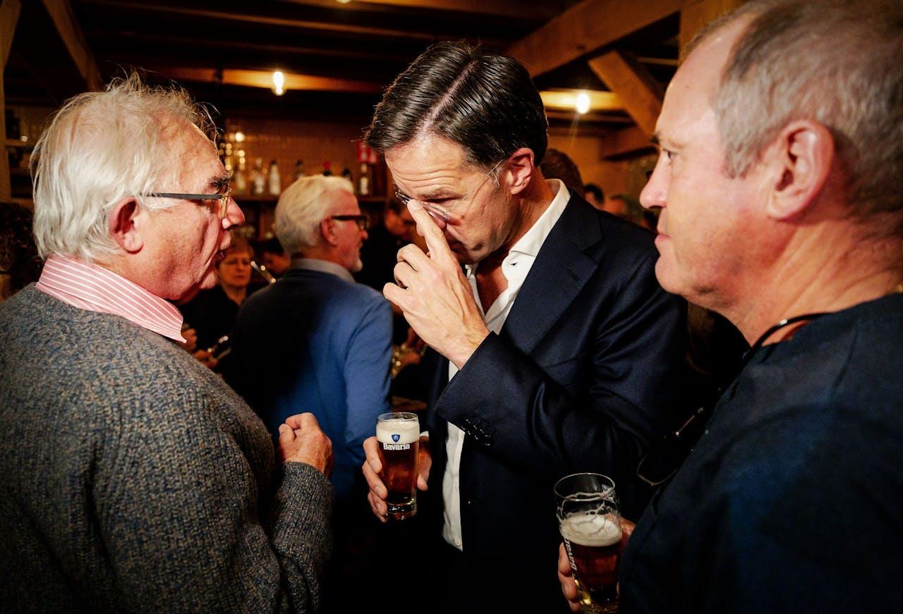 Minister-president Mark Rutte praat