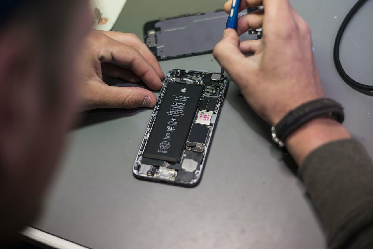 De batterij van een iPhone 6