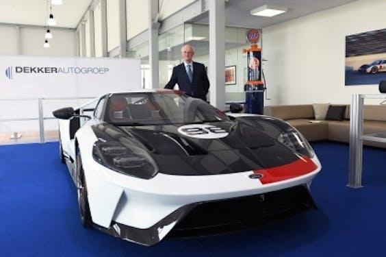 Hans Dekker kocht een unieke Ford GT 'Heritage Edition'