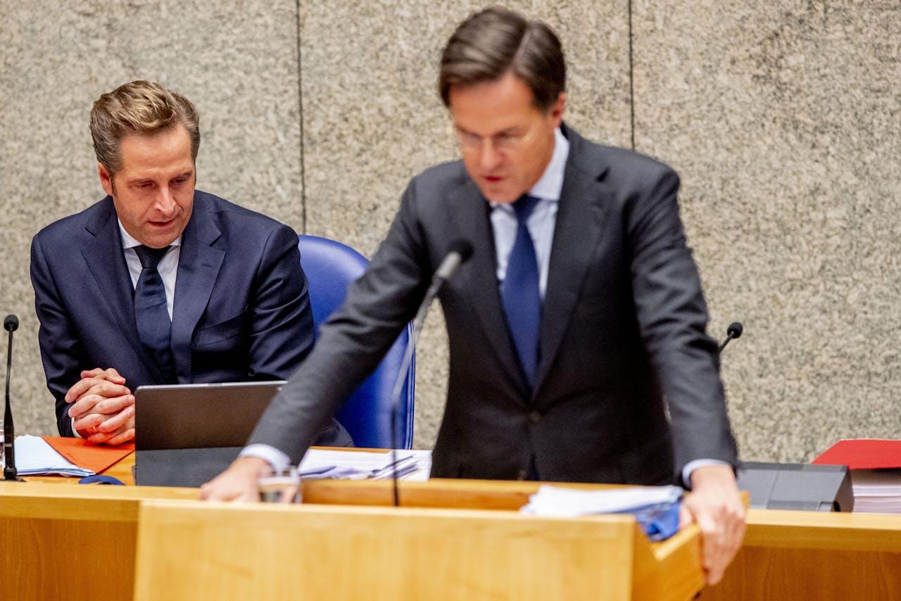 Hugo de Jonge en Mark Rutte