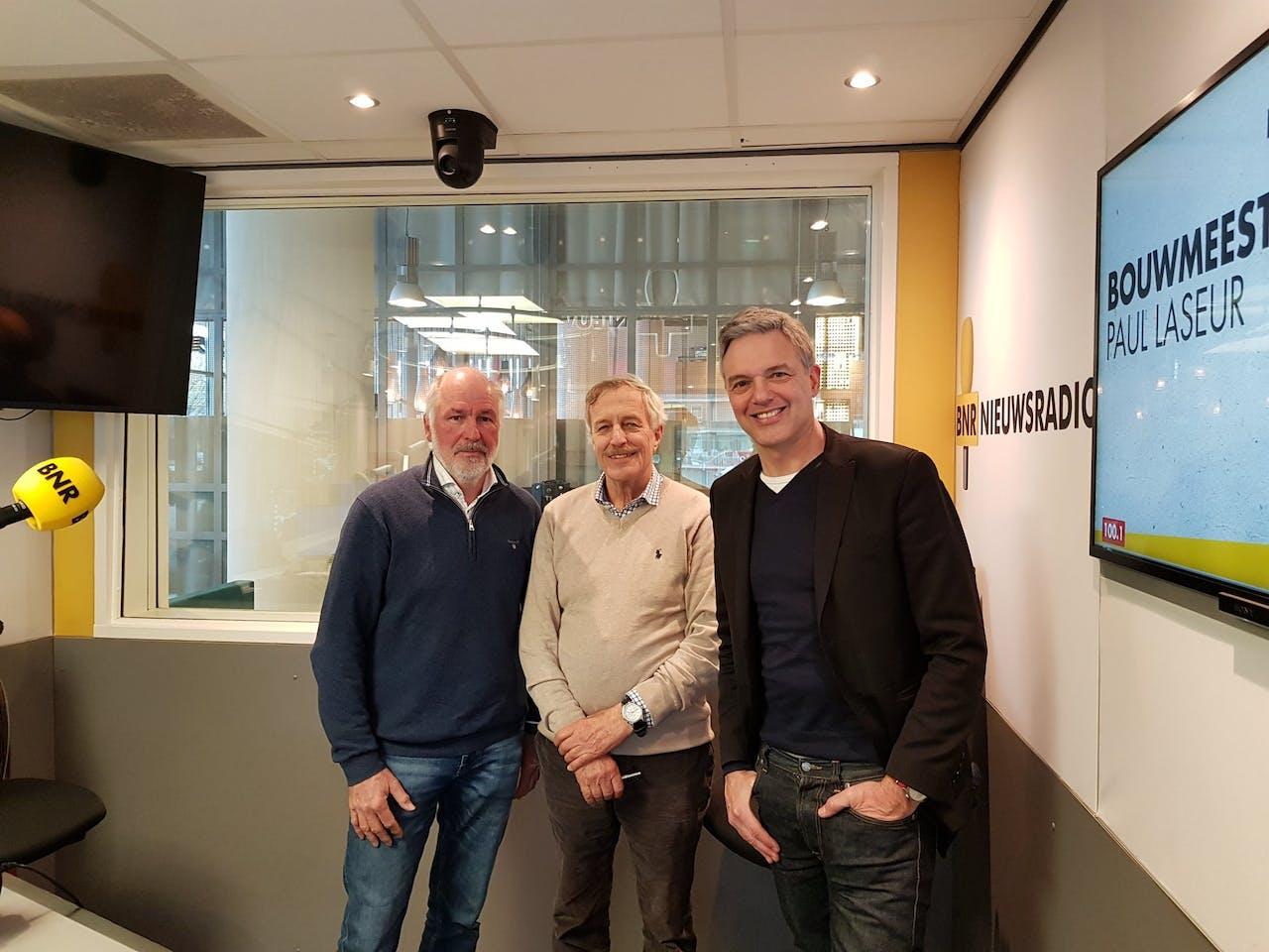 V.l.n.r.: Hendrik Postma, Paul Grove en Paul Laseur