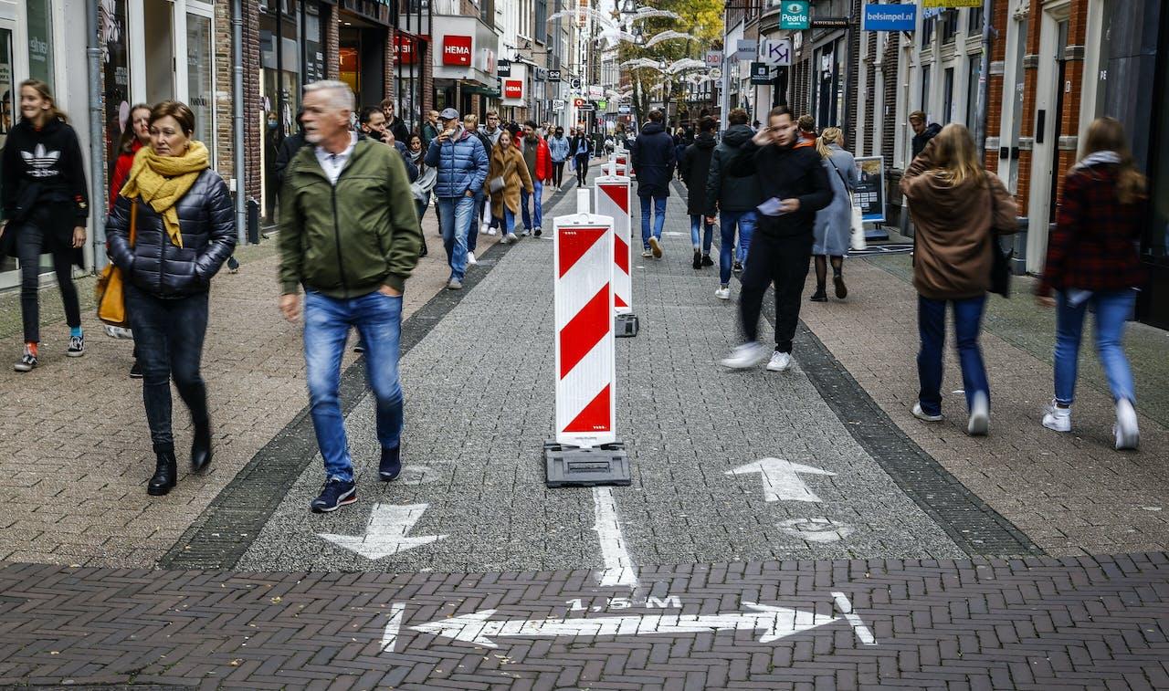 Eenrichtingsverkeer in het centrum van Zwolle.