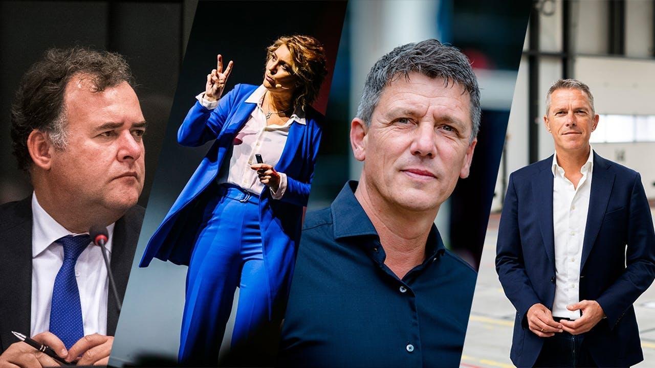 De vier gasten van ondernemen in coronajaar 2020. Maandag Hans Biesheuvel van Ondernemend Nederland, dinsdag corporate antropoloog Jitske Kramer, woensdag Jacco Vonhof van MKB-Nederland en donderdag Michiel Muller, oprichter van Picnic.