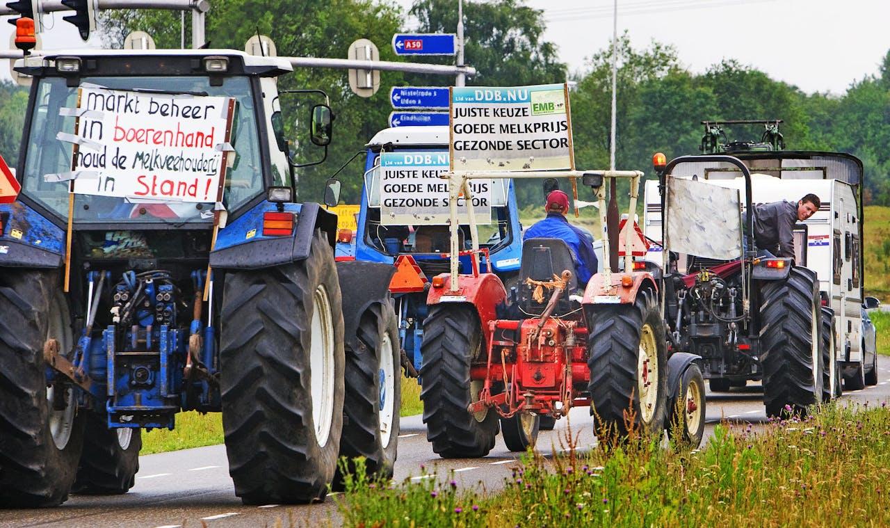 2016 - Activoerende boeren onderweg naar Brussel.