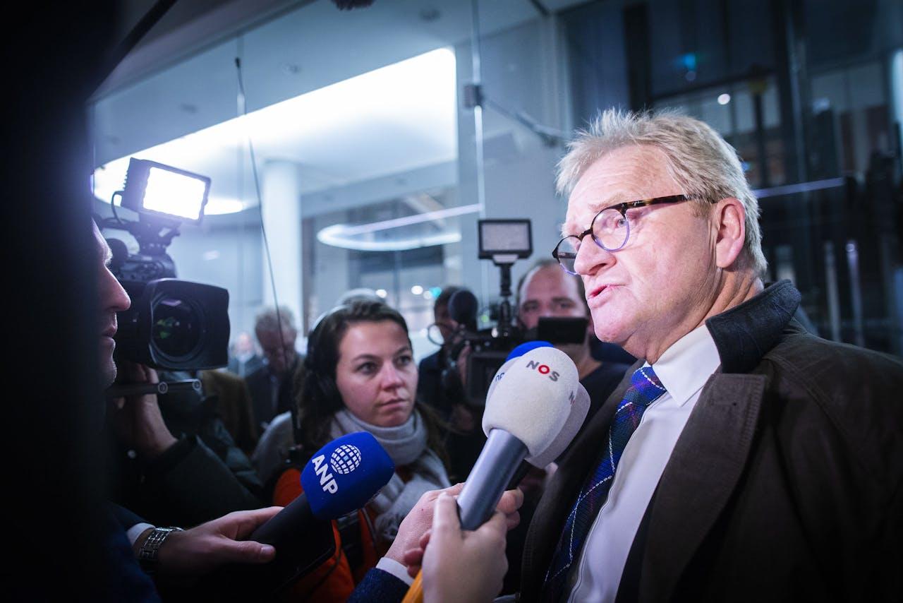 2018-10-24 22:43:33 DEN HAAG - Hans de Boer verlaat het ministerie van Sociale Zaken en Werkgelegenheid na het pensioenoverleg met werkgevers en vakbonden. Er is geen akkoord. ANP EVERT-JAN DANIELS