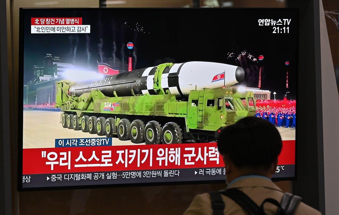 De langeafstandsraket die Noord-Korea presenteerde.