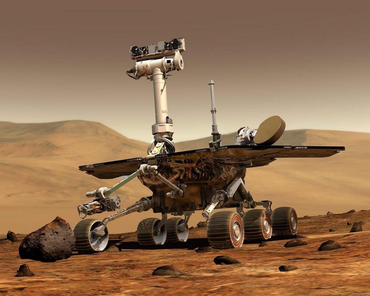 Een eerdere Mars-rover van NASA