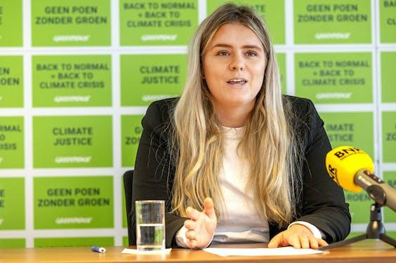 Campagneleider Dewi Zloch van Greenpeace