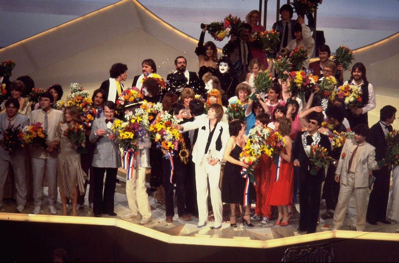 in 1980 was het Songfestival voor het laatst in Nederland: Den Haag was toen de gelukkige.