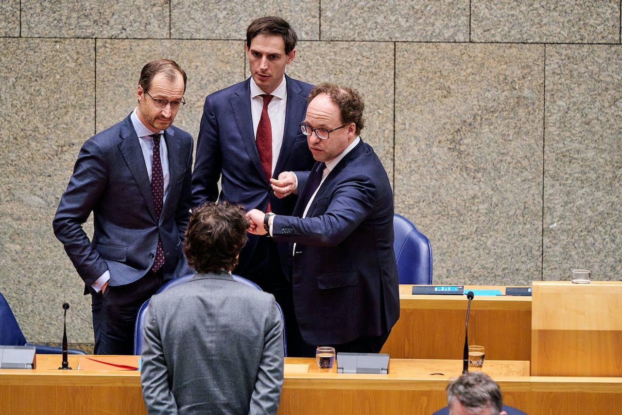 Ministers Eric Wiebes, Wopke Hoekstra en Wouter Koolmees
