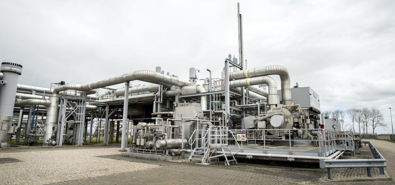 Installatie op het gasveld Loppersum. ANP JERRY LAMPEN