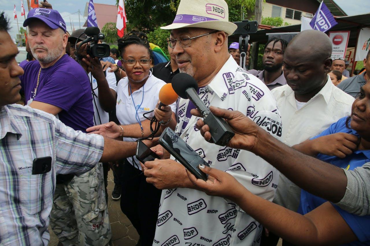 President Desi Bouterse van de regerende Nationale Democratische Partij