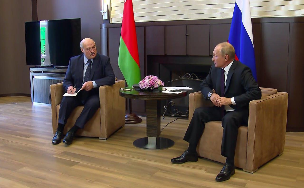Vladimir Poetin en Alexandr Loekasjenko