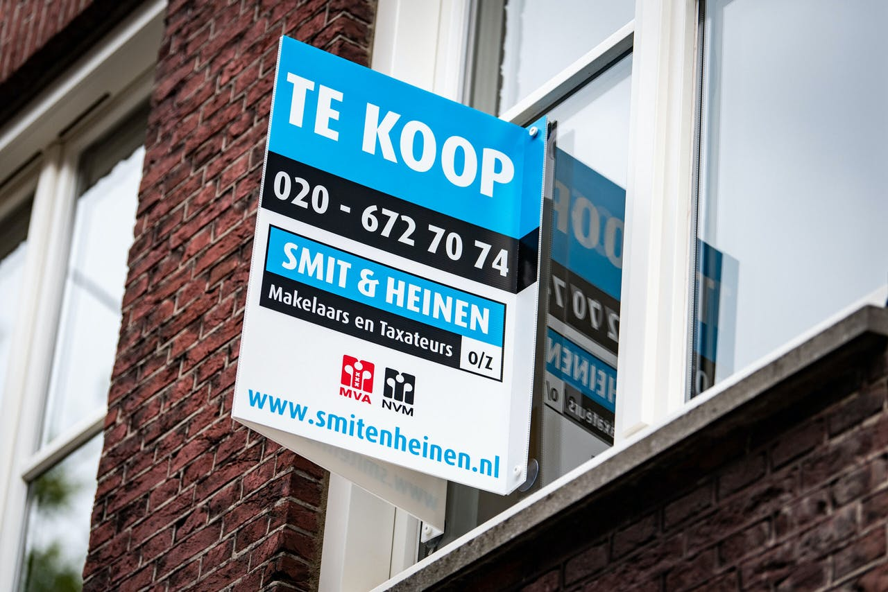 Een woning staat te koop. ANP / Hollandse Hoogte / Venema Media