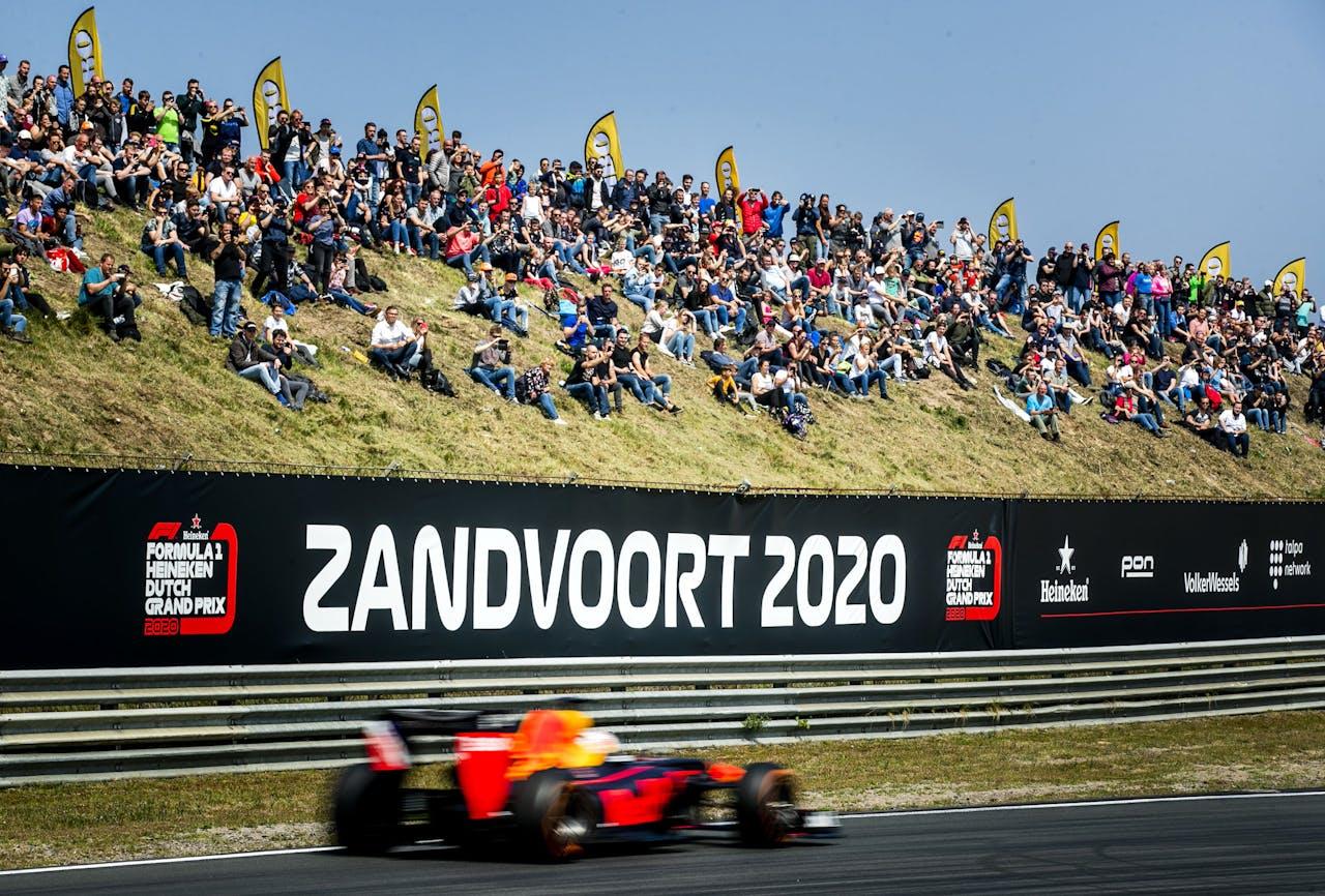 ZANDVOORT - Coureur Max Verstappen tijdens de vierde editie van de Jumbo Familie Racedagen op het Circuit Park Zandvoort. ANP REMKO DE WAAL