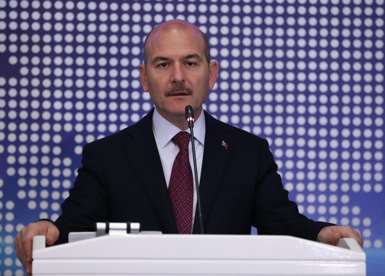 De Turkse minister van Binnenlandse Zaken Suleyman Soylu