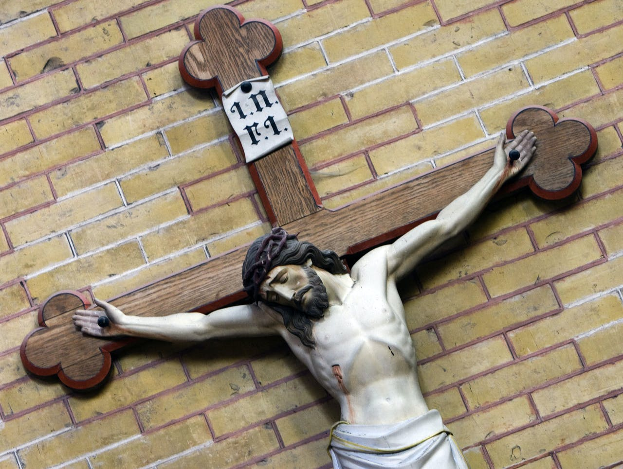 Christusbeeld in Rooms-Katholieke kerk.