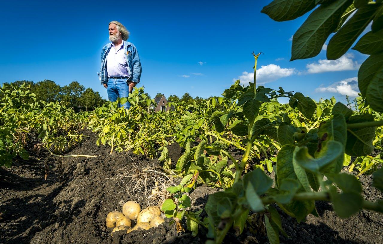 Landbouwer in Zuidoost-Beemster