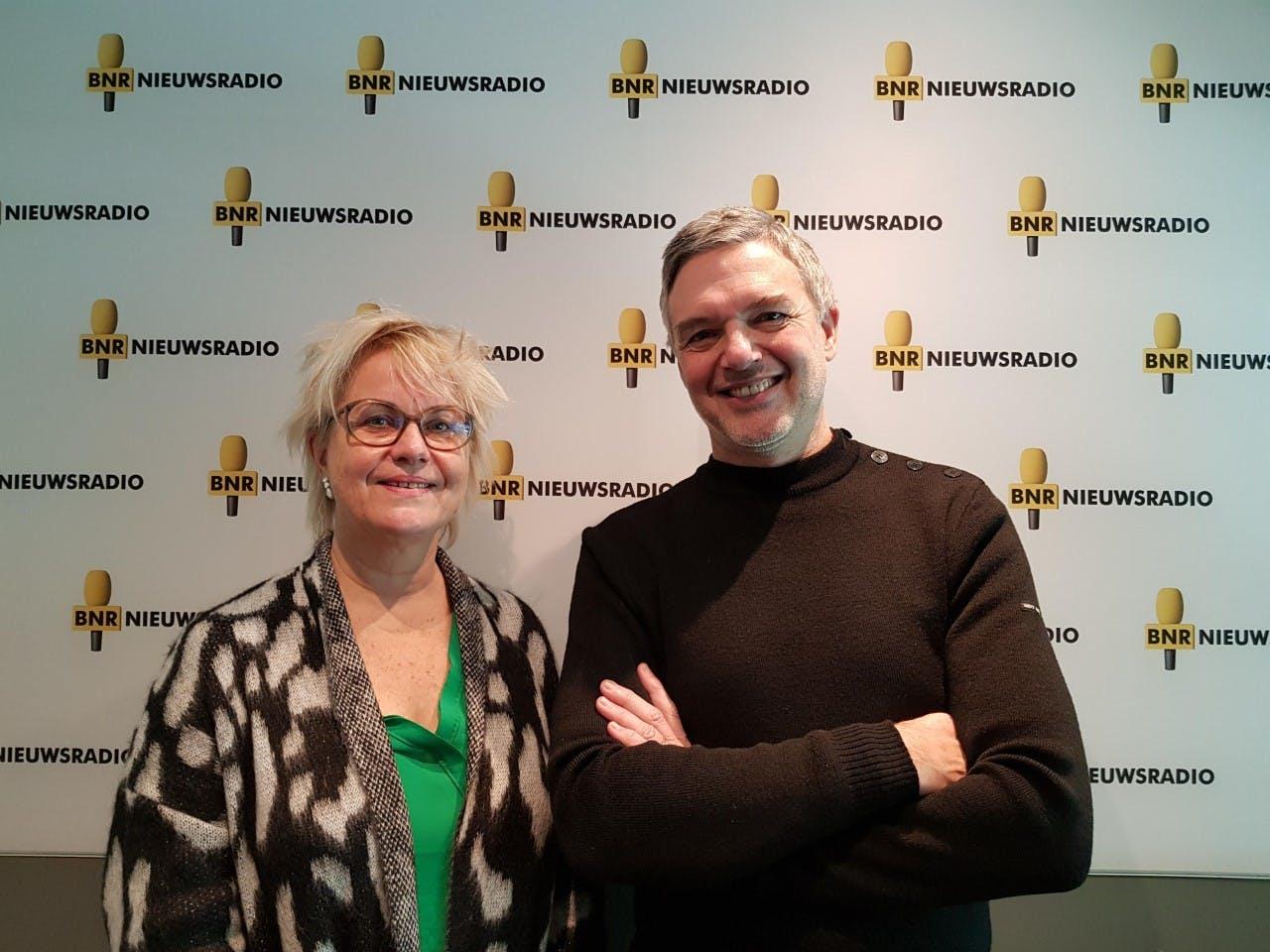Michèle Blom van Rijkswaterstaat en Paul Laseur.