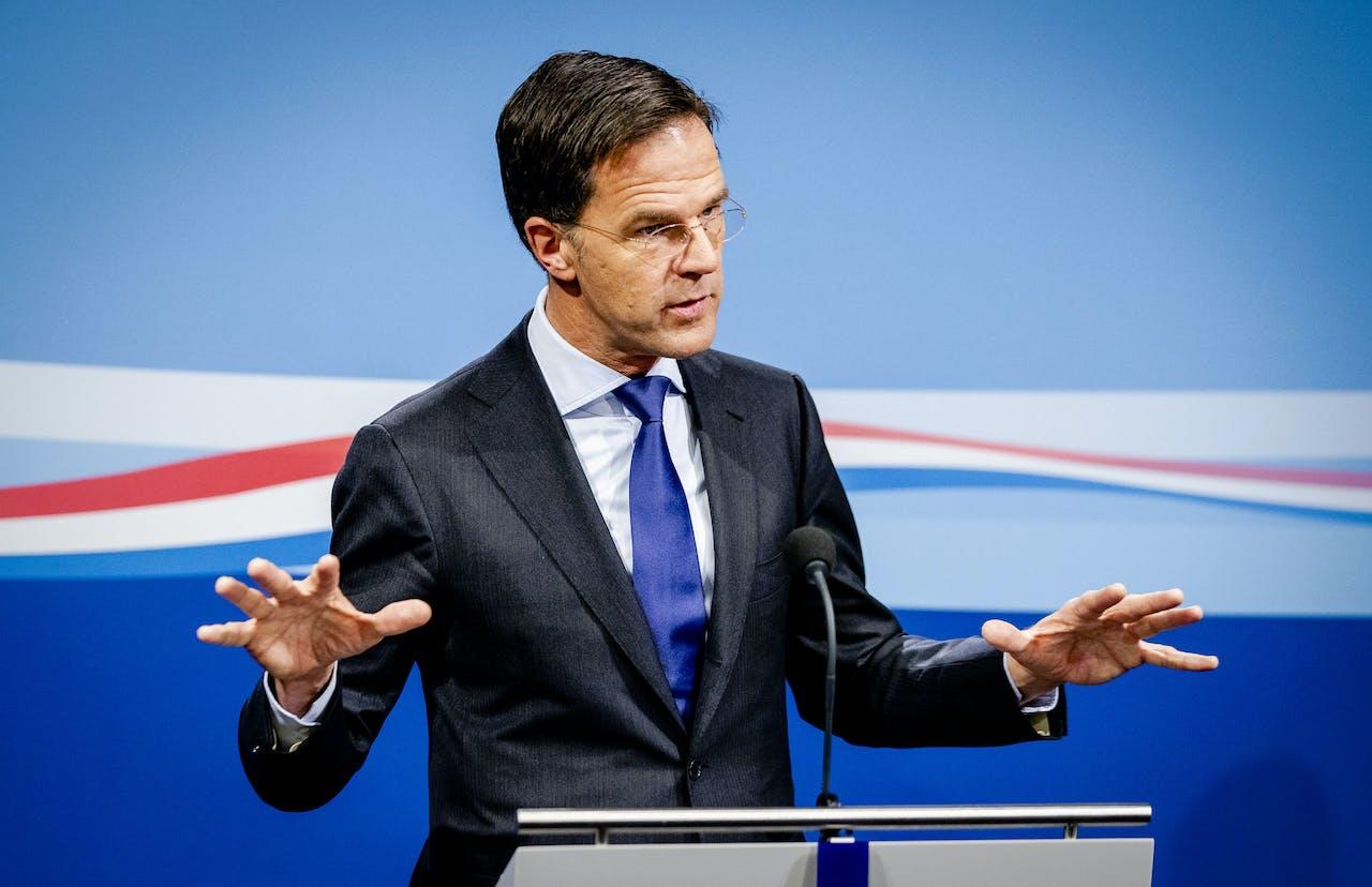 2019-11-29 15:38:09 DEN HAAG - Minister-president Mark Rutte geeft een persconferentie na afloop van de wekelijkse ministerraad. ANP SEM VAN DER WAL