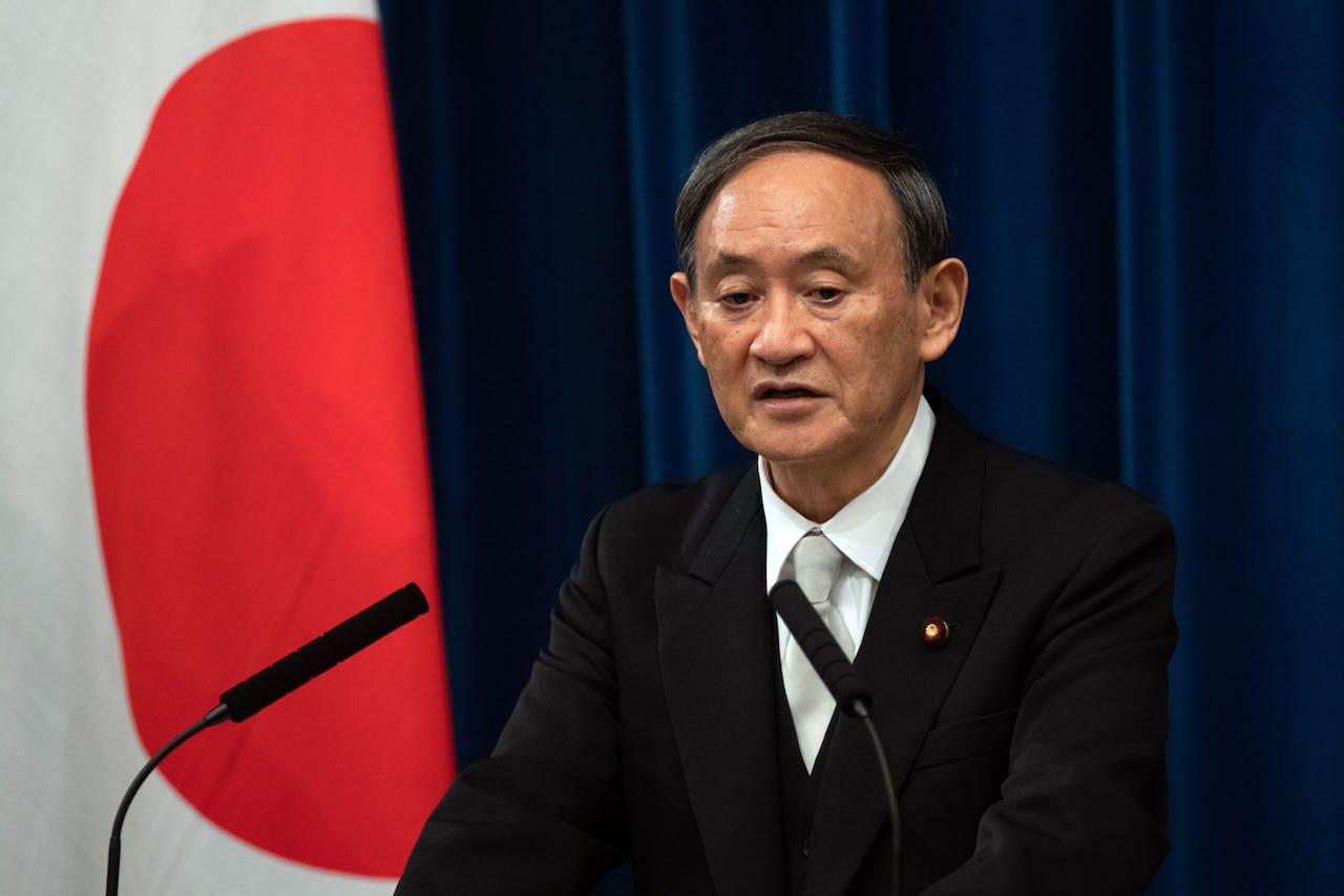 De nieuwe Japanse minister-president Yoshihide Suga