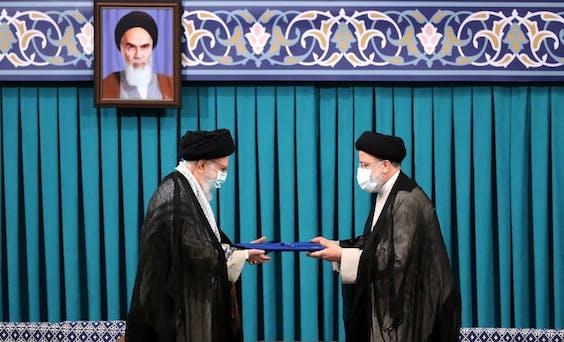 Leider Ayatollah Ali Khamenei en Ebrahim Raisi