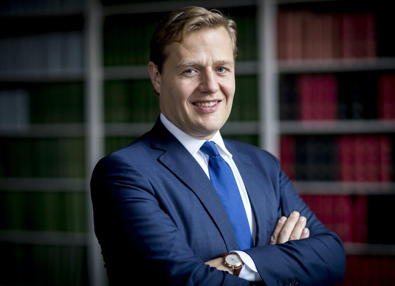 DEN HAAG - Portret van Jan Middendorp, Tweede Kamer-lid voor de VVD. ANP JERRY LAMPEN