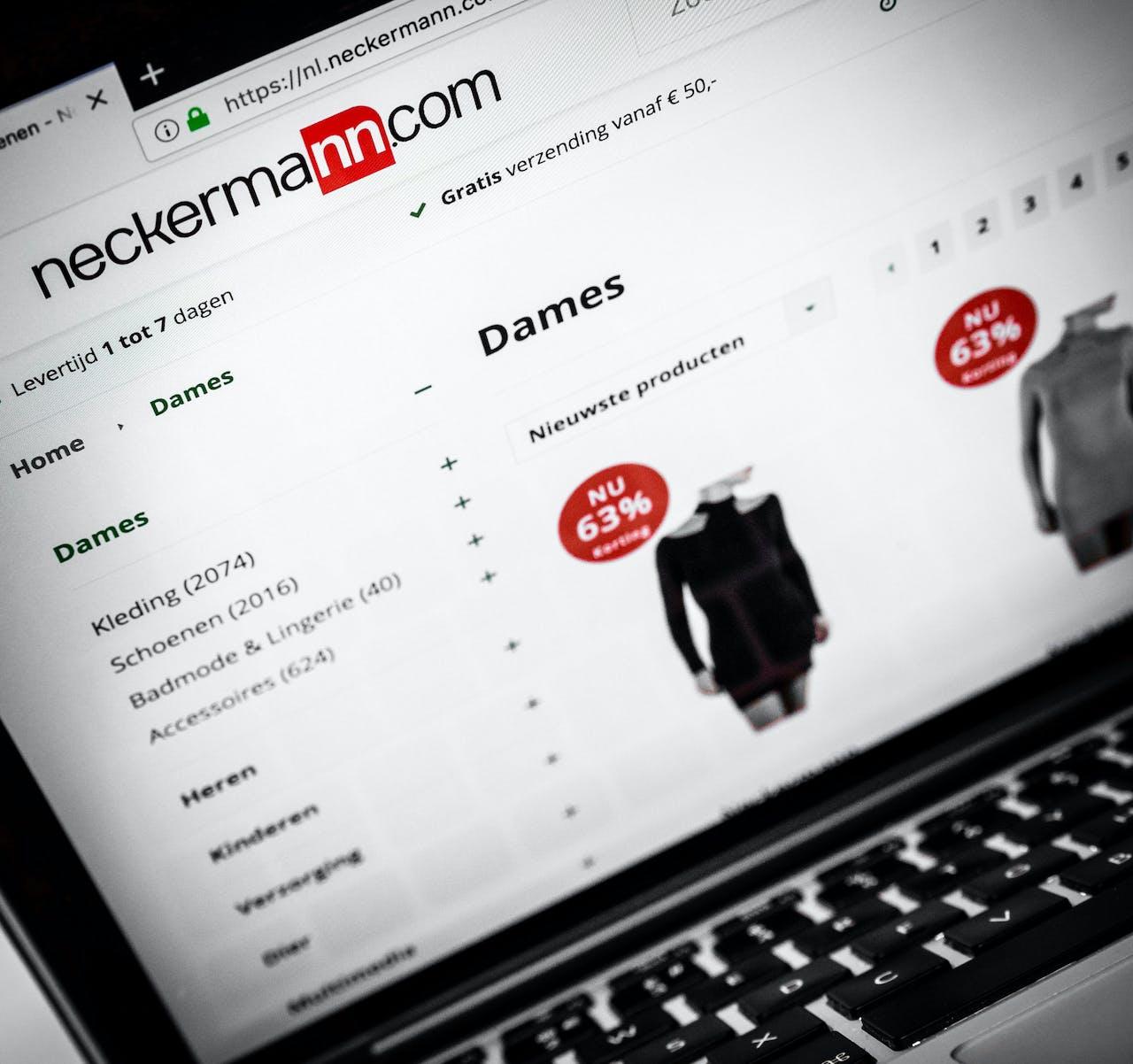ILLUSTRATIEF - De webwinkel van Neckermann. ANP XTRA ROB ENGELAAR