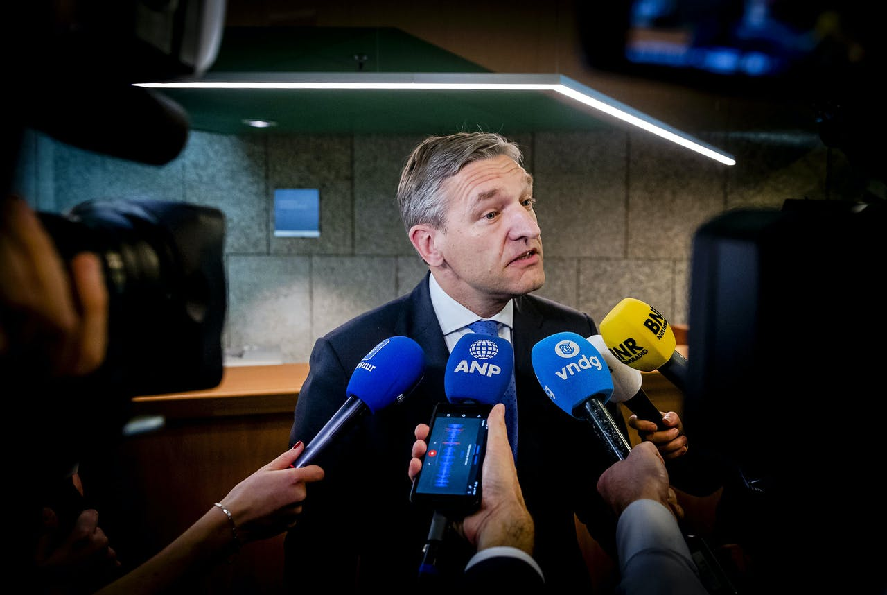 Sybrand van Haersma Buma (CDA) reageert in de Tweede Kamer over de zogenoemde sleepwet.