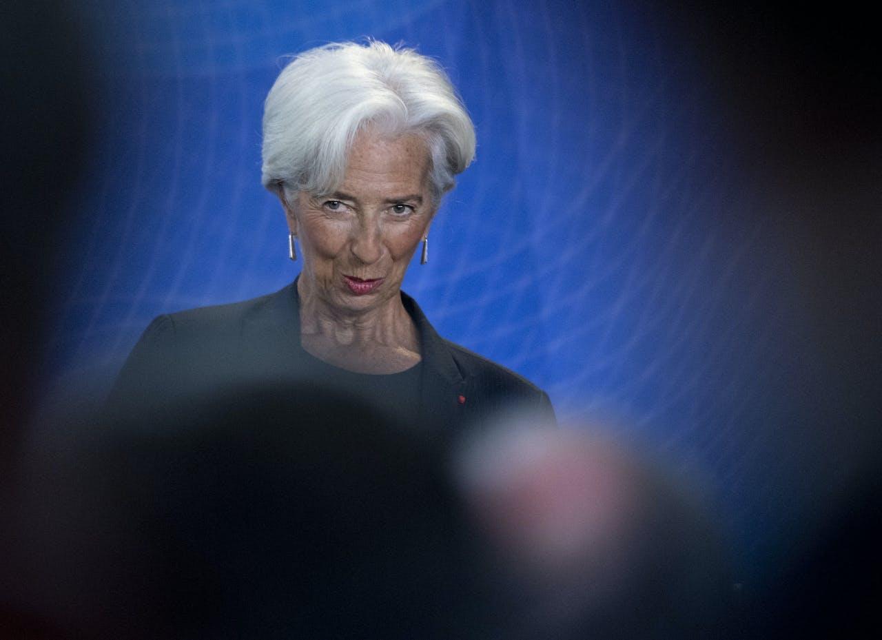 De nieuwe president van de Europese Centrale Bank ECB Christine Lagarde