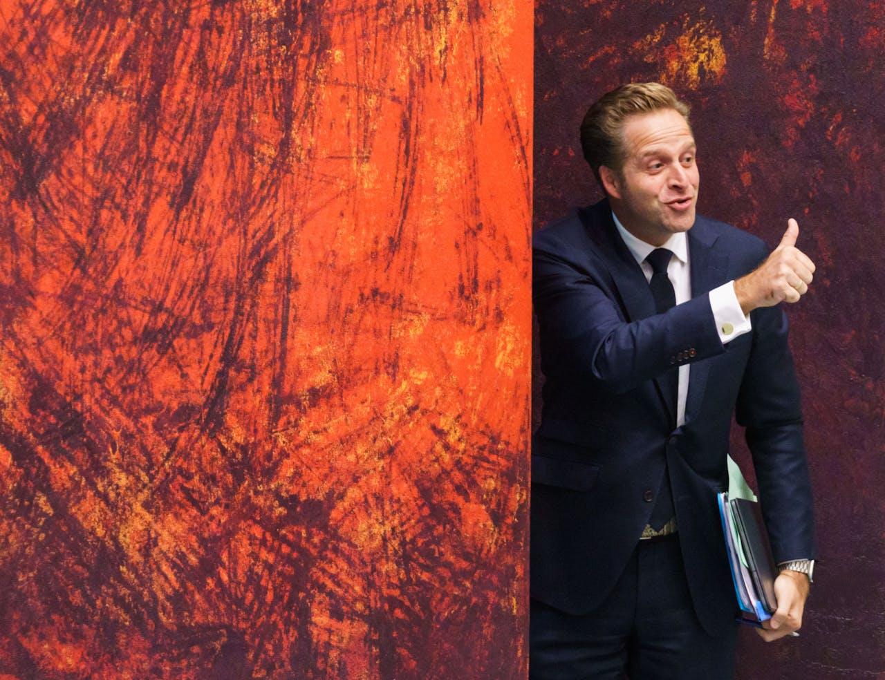 Minister Hugo de Jonge van VWS tijdens het wekelijkse vragenuur in de Tweede Kamer.