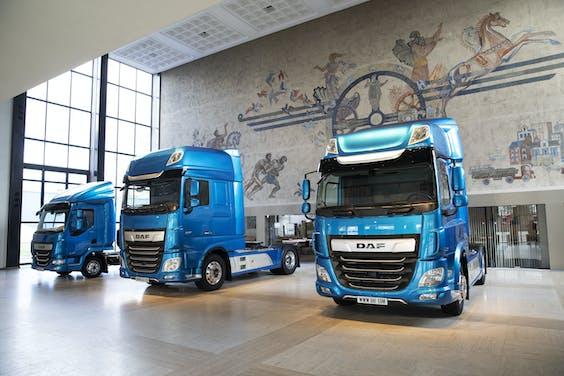 Showroom bij DAF Trucks in Eindhoven