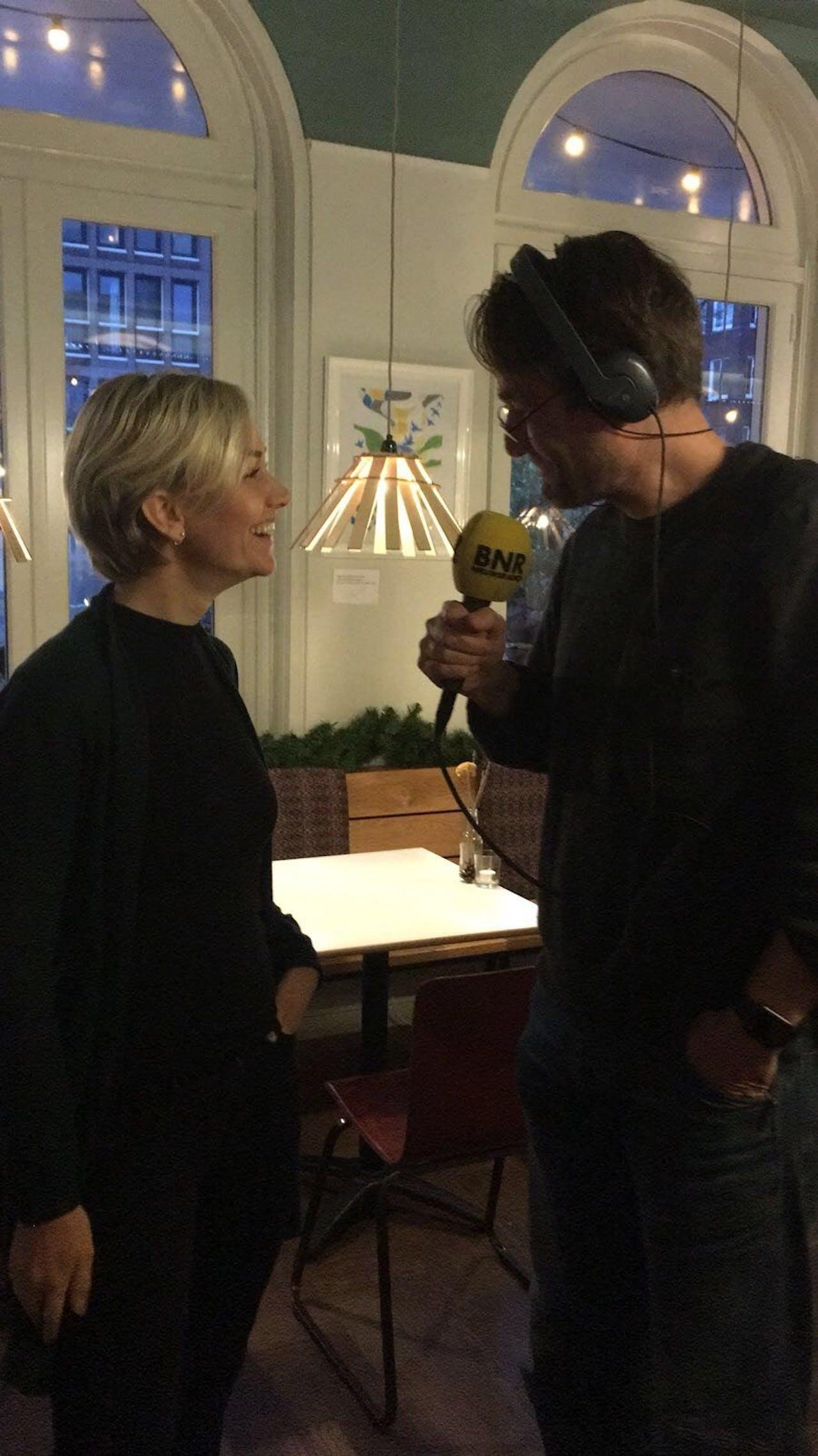 Freke van Nimwegen in gesprek met BNR's Martijn de Rijk