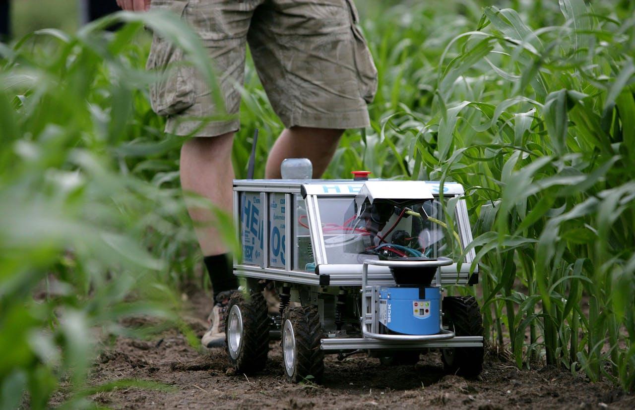 Een landbouwrobot van de Universiteit Wageningen.