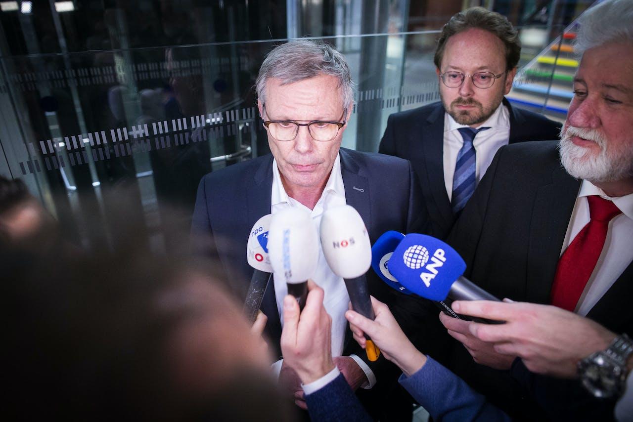 FNV-voorzitter Han Busker na de geklapte pensioenonderhandelingen van afgelopen november.