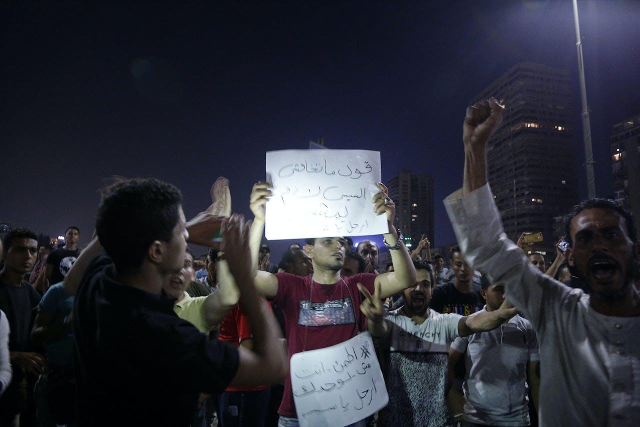 Demonstranten in Caïro