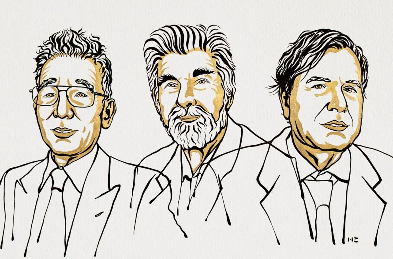 Syukuro Manabe, Klaus Hasselmann en Giorgio Parisi