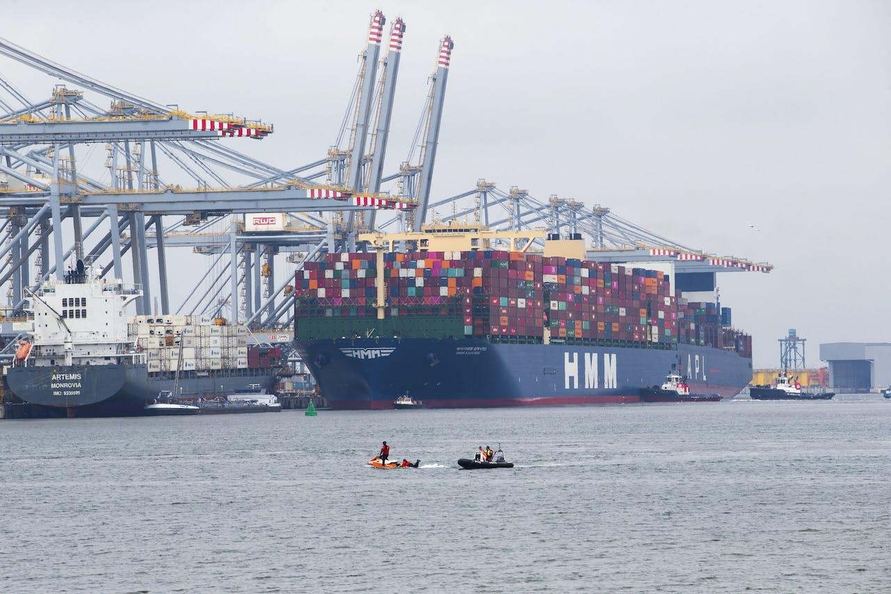 Het grootste containerschip ter wereld,
