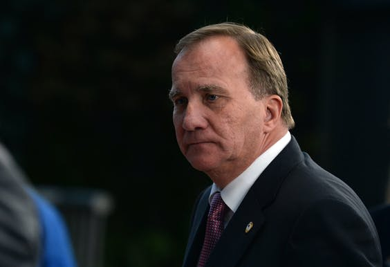 De Zweedse premier Stevan Löfven