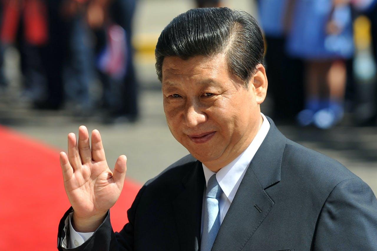 De Chinese president Xi Jinping