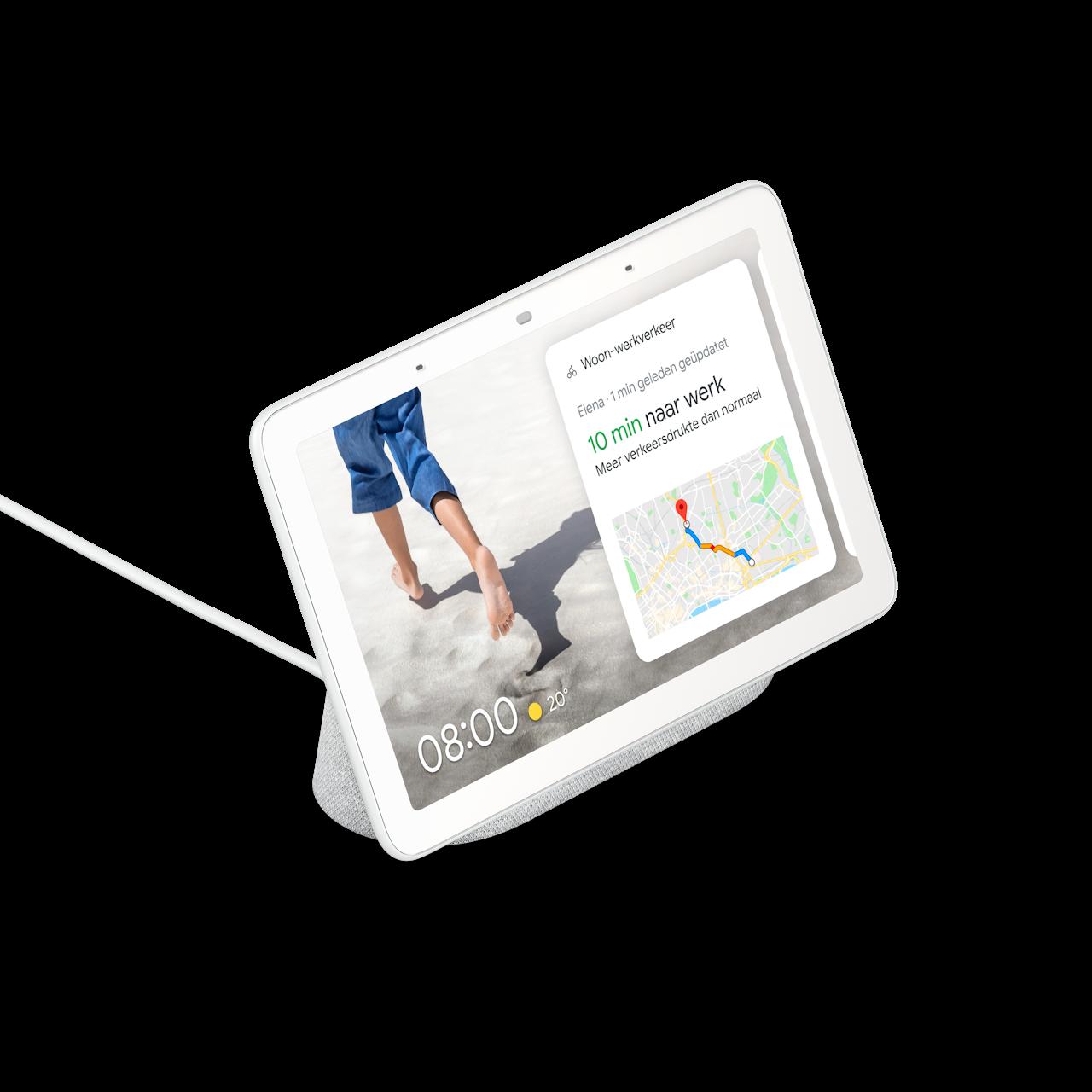 De Google Nest Hub (witte uitvoering)