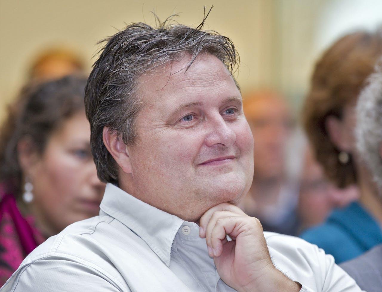 Ruud Koornstra tijdens een bijeenkomst in Wageningen.
