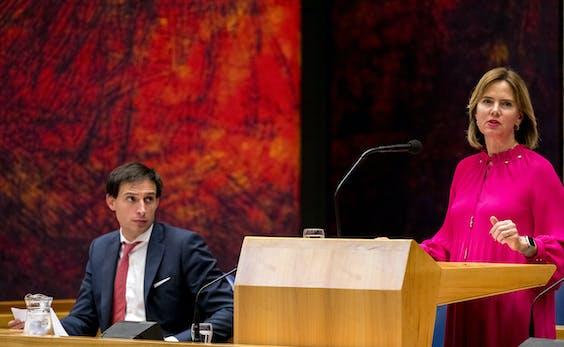 Wopke Hoekstra en Cora van Nieuwenhuizen