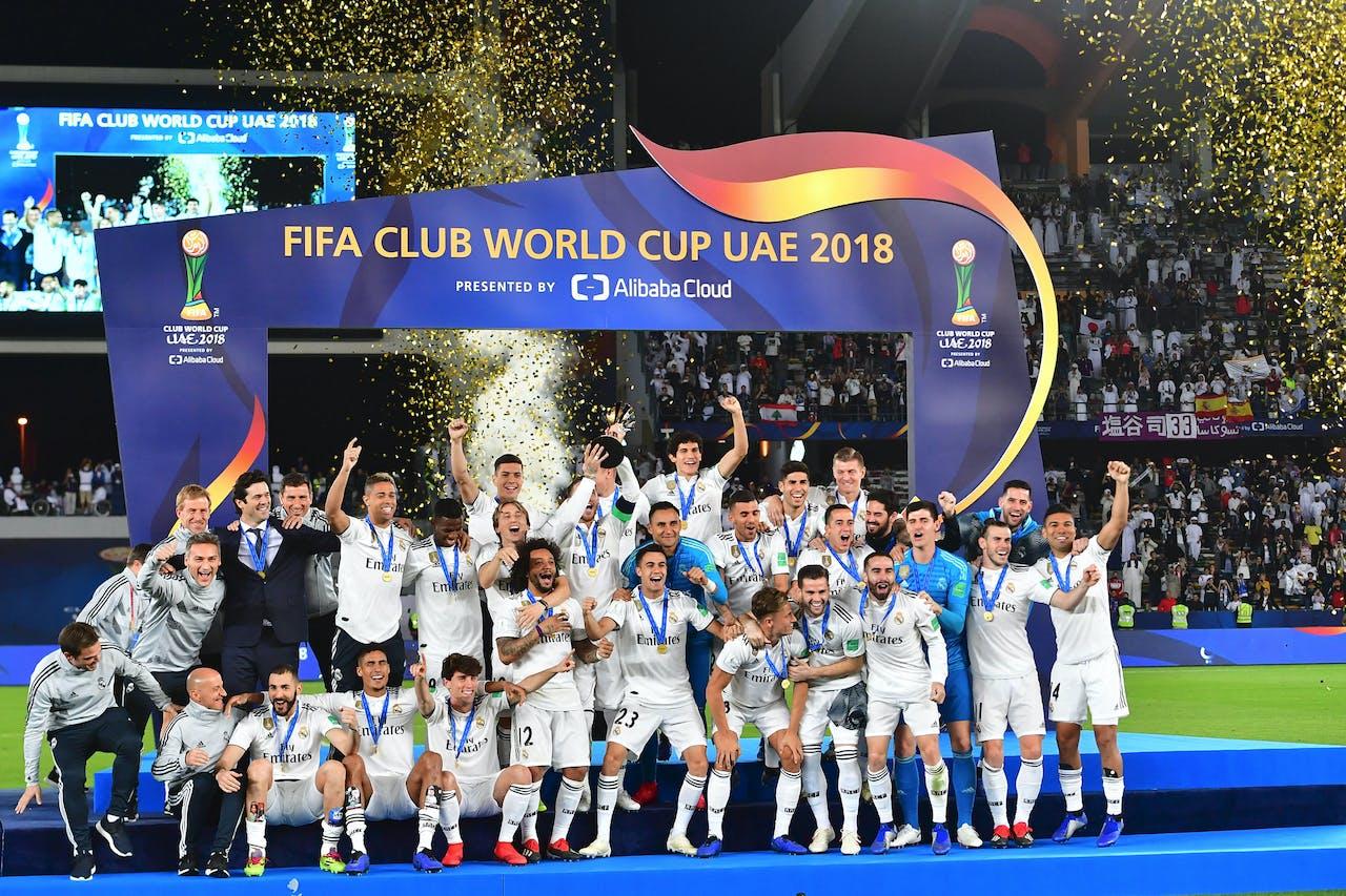 Real Madrid won het Wereldkampioenschap voor clubteams in 2018.