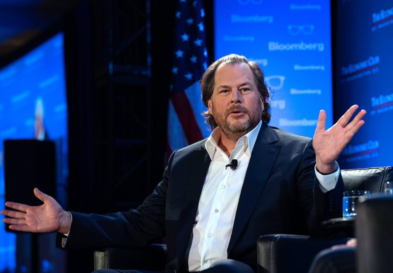 Marc Benioff, oprichter en mede-CEO van Salesforce