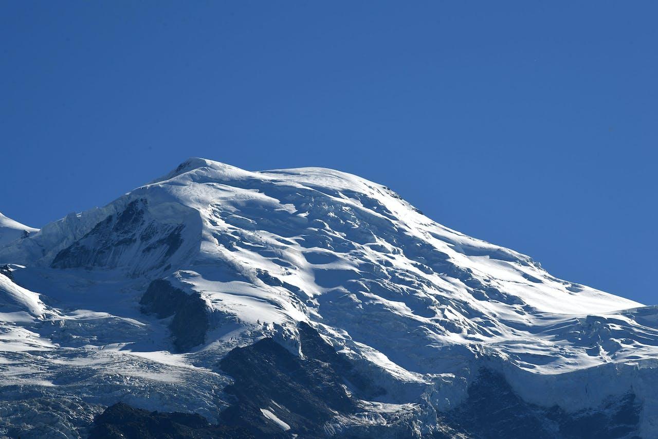 De top van de Mont Blanc