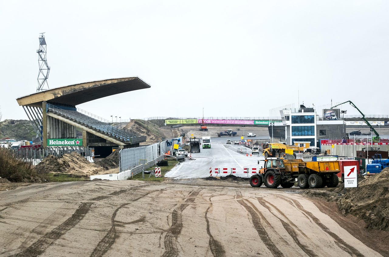 Werkzaamheden op Circuit Zandvoort.